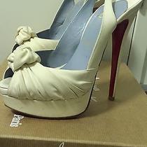 Christian Louboutin Jenny Ivory Wedding Shoes 38 Photo