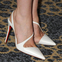 Christian Louboutin June 100 Leather Pumps Heels Shoes Bridal Wedding Photo
