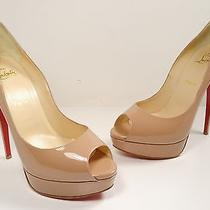 Christian Louboutin 'Lady Peep' Platform Pump Nude Patent Size 41 Photo