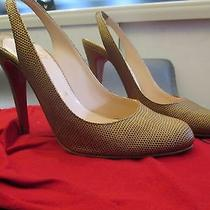 Christian Louboutin Lizard Leather Slingbacks Size 38 Gently Worn No Box Photo