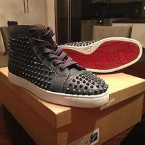 Christian Louboutin Louis Flat Calf Spikes in Grey Size 43 (Us 10) Like New Photo