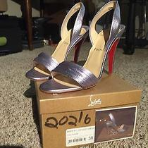 Christian Louboutin Metallic Heels Photo