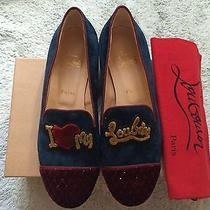 Christian Louboutin My Love Flat Velvet Sz 40 1295 Photo