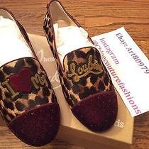 Christian Louboutin My Love I Love My Loubies Velvet Leopard Intern Flats 38 8 Photo