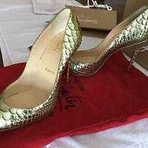 Christian Louboutin Pigalle Follies Python Heels Pumps Size 37 Photo