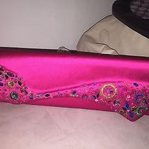 Christian Louboutin Pink Silk Satin Jewled Pigalle Clutch Purse Nwot Photo