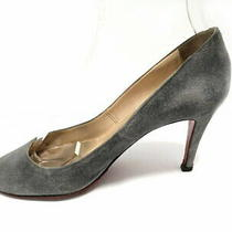 Christian Louboutin Pumps 36 1/2 Women 'S Gray Suede Used Photo