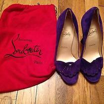 Christian Louboutin Purple Heels Photo