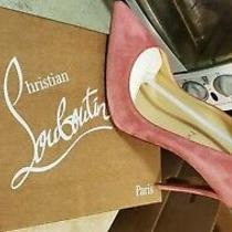 Christian Louboutin Red Bottom Heel Rose Color Size 39 Brand New Photo