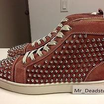 Christian Louboutin Red Louis Flat Crosta/spikes Sz 41 & Other Sizes Available Photo