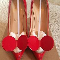 Christian Louboutin Red Madam Mouse Pumps Heels Shoes Photo