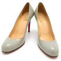 Christian Louboutin Round Tu Pumps Heel Gray Red Women 'S Apparel Clothing Photo