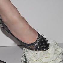 Christian Louboutin Siouxsie Black Studded Spikes Ballerina Flats Size 38 Photo