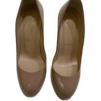 Christian Louboutin Size 36 / Size 6 Simple Pump Beige Patent Leather Photo