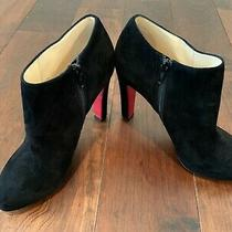 Christian Louboutin - Size 38.5 Suede Booties - Excellent Condition Photo