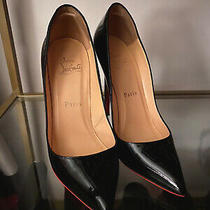 Christian Louboutin So Kate 120 Mm Patent Leather Black Pumps Heels Size 36 Photo