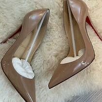 Christian Louboutin So Kate Nude Patent Leather Red Bottom Pumps Sz 35.5 120mm Photo