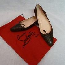 Christian Louboutin Suede Flats Photo