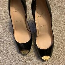 Christian Louboutin Sz 40.5 Patent Very Prive 120 Peep Toe Pump Photo