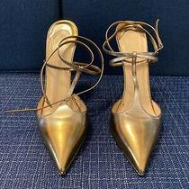 Christian Louboutin T Slick 120 Specchio in Bronze 41 Pointed Toe Heel Pump Photo