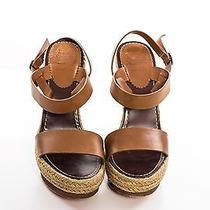 Christian Louboutin Tan Espadrille and Wood Sandals Photo