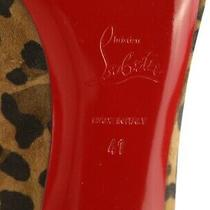Christian Louboutin Women Leopard Pump Size 11 M Photo