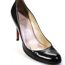 Christian Louboutin Womens Leather Solid Stiletto Class Pumps Black Size 9 39 Photo