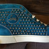 Christian Louboutins Blue Suede Photo