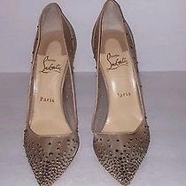 Christian Louboutins With Diamonds See Through Leather Heal Size 38 Photo