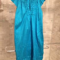 Christiane Celle Calypso Bright Aqua Silk Dress- Size L Photo