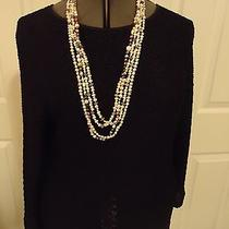 Christie and Jill Black Boucle-Knit Top Lng Slvs Ll Photo