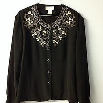 Christie and Jill Black & Gold Blouse Size 18 Photo