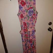 Christie Austin Womens Pink Floral Sleeveless Rayon Reg Size M 7/8 Dress Photo