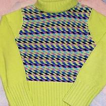 Christie Brooks Acrylic Lime Green Turtleneck Sweater- Size 10/12 Photo