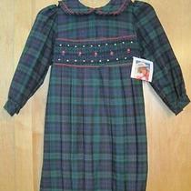 Christie Brooks Blue Plaid Dress Size 4 Vintage New Photo