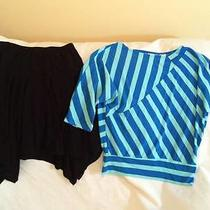 Christie Brooks Girls Size 7 / 8 Skirt / Striped Top Outfit - Super Cute Style Photo