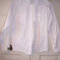 Christie Brooks Girls White Button Down Long Sleeve Shirt Size Xl 16 Photo