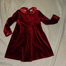 Christie Brooks Rose Trim Holiday Christmas Dress Girls 5/6 Photo