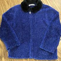 Christie Brooks Size l(6x) Sparkling Long Sleeve Sweater Jacket / Cardigan Photo