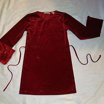 Christie Brooks Sparkle  Holiday /christmas  Winter Dress Girls 7/8 Photo