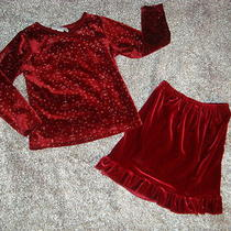 Christie Brooks Velour Holiday/ Christmas Skirt  Outfit Girls 5/6 Photo