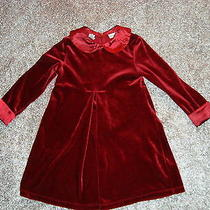 Christie Brooks Velour   Holiday Christmas Winter Dress Girls 4 Photo