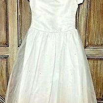 Christie Helene Size-10 2926 White Communion Dress Flower Girl Wedding 250 Nwt Photo