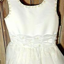 Christie Helene Size 7 White Communion Dress Flower Girl Wedding 250 Nwt Hx018 Photo