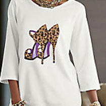 Christie High-Low Top  Size L -- Nwt Photo