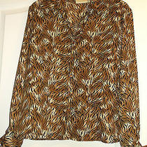 Christie & Jill Animal Print Top With Detachable Tie/sash Nwt Msrp 30 Sz. 8 Photo