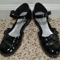 Christie & Jill Black Patent Heeled Holiday Shoes 2 Photo