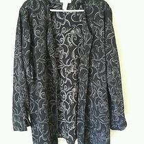 Christie & Jill Blouse Shirt Top Womens 2x Plus Button Up Multicolor Long Sleeve Photo