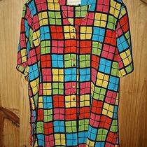 Christie & Jill Brand Bright Color Blouse Pretty  Bust 48