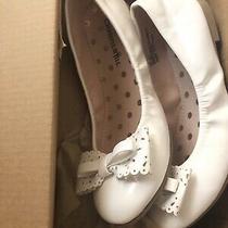 Christie & Jill Girl's Poppy Ballet Flats Bow White Size 13m New in Box Photo